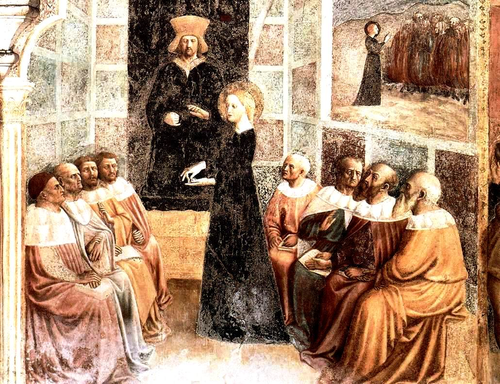 Masolino,_santa_caterina_e_i_filosofi_di_alessandria,_san_clemente_roma